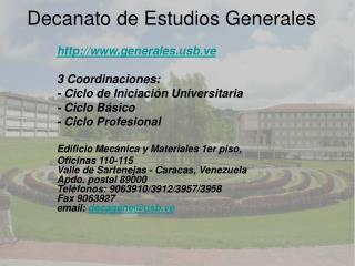 Decanato de Estudios Generales