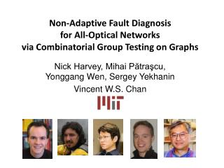 Non-Adaptive Fault Diagnosis  for All-Optical Networks  via Combinatorial Group Testing on Graphs