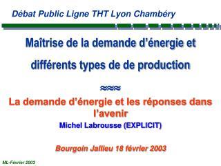 Maîtrise de la demande d'énergie et différents types de de production 