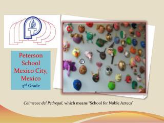Peterson School Mexico City, Mexico 3 rd  Grade