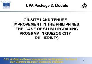 UPA Package 3, Module