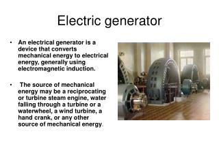 Electric generator