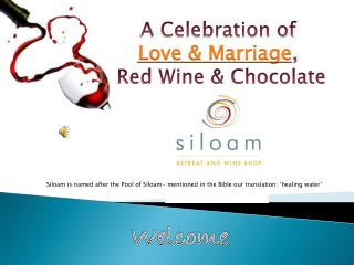 Siloam is named after the Pool of Siloam- mentioned in the Bible our translation: 'healing water'