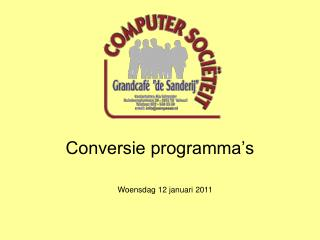 Conversie programma s