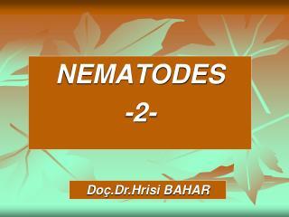 NEMATODES -2-