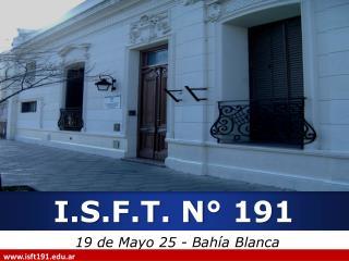 I.S.F.T. N° 191