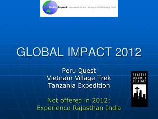 GLOBAL IMPACT 2012