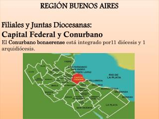 REGIÓN BUENOS AIRES Filiales y Juntas Diocesanas: Capital Federal y  Conurbano