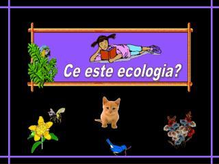 Ce este ecologia?