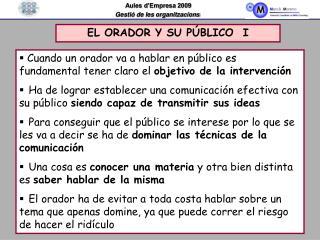 EL ORADOR Y SU P BLICO  I