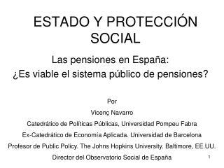 ESTADO Y PROTECCI N SOCIAL