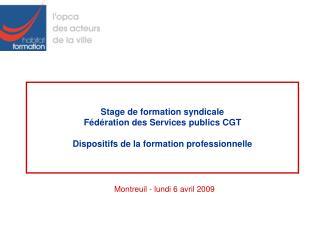 Montreuil - lundi 6 avril 2009