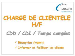 CHARGE DE CLIENTELE H/F