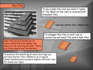 Plain tiles are laid double lap. In  other words there are always two