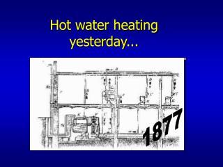 Hot water heating yesterday...