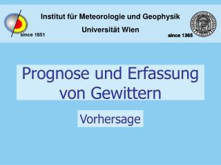Prognose und Erfassung von Gewittern