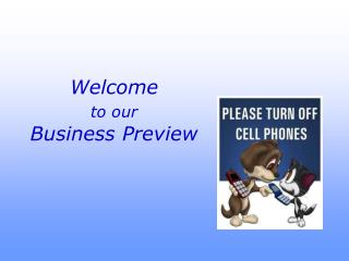 Welcome to our Business Preview