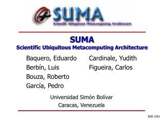 SUMA Scientific Ubiquitous  Meta computing Architecture