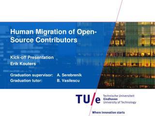 Human Migration of Open-Source Contributors