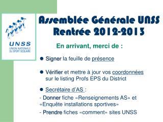 Vérifier  et mettre à jour vos  coordonnées  sur le listing Profs EPS du District