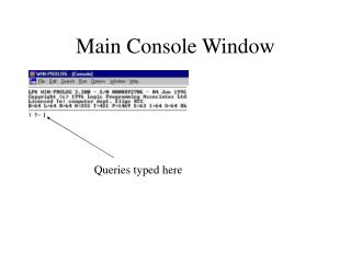 Main Console Window