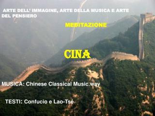 ARTE DELL' IMMAGINE, ARTE DELLA MUSICA E ARTE DEL PENSIERO MEDITAZIONE