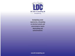 LDC borstplätering Tel: +46 248 17440     ldc@swipnet.se