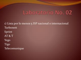 Laboratorio No. 02