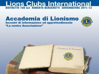STORIA DEL LIONISMO a cura di Carlo Calenda