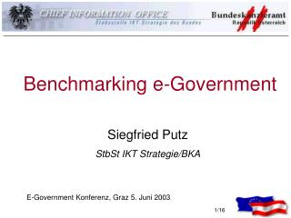Benchmarking e-Government