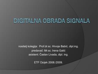 Digitalna obrada signala