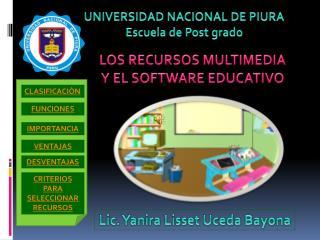 LOS RECURSOS MULTIMEDIA  Y EL SOFTWARE EDUCATIVO