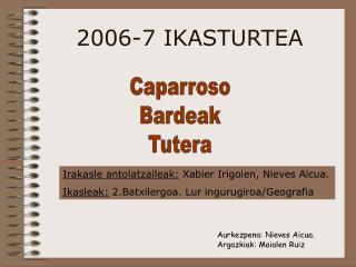 2006-7 IKASTURTEA