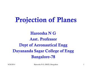 Hareesha  N G Asst. Professor Dept of Aeronautical  Engg Dayananda Sagar  College of  Engg