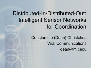 Distributed-In