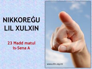 NIKKOREĠU LIL XULXIN 23 Ħadd matul is-Sena A