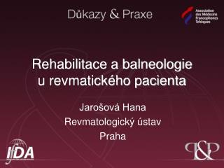Rehabilitace a balneologie  u revmatického pacienta