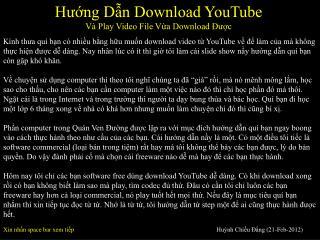Hướng Dẫn Download YouTube Và Play Video File Vừa Download Được