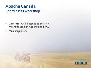 Apache Canada Coordinates Workshop