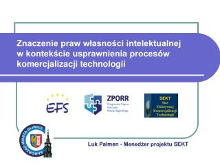 Luk Palmen - Menedżer projektu SEKT