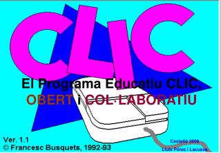 El Programa EducatiuCLIC,  OBERT  i  COL·LABORATIU