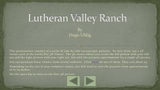 Lutheran Valley Ranch