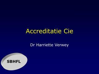 Accreditatie Cie