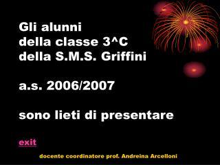 docente coordinatore prof. Andreina Arcelloni