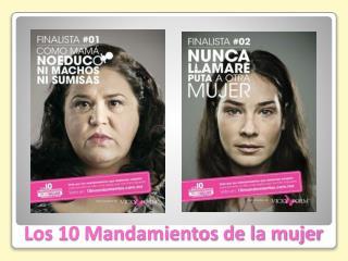 Los 10 Mandamientos de la mujer