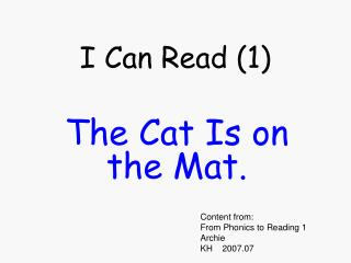 I Can Read (1)