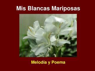 Mis Blancas Mariposas Melodía y Poema