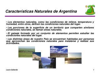 Características Naturales de Argentina