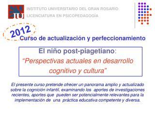 INSTITUTO UNIVERSITARIO DEL GRAN ROSARIO LICENCIATURA EN PSICOPEDAGOGÍA