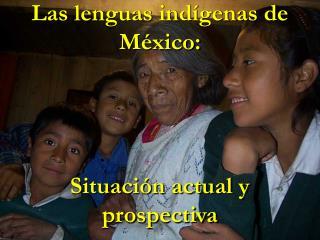 Las lenguas ind�genas de M�xico: Situaci�n actual y prospectiva